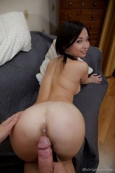 awesome cumshot pic with a amazing asian.