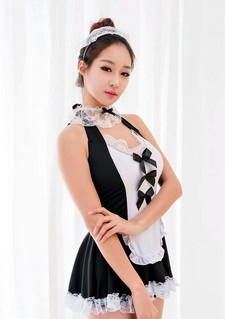 Newly featured Korean beauty Eun Ji Ye, posing in various dresses, hot outfits and a..