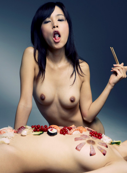The sushi is better on the woman.....