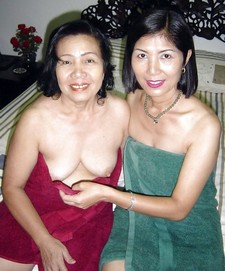 Young and old asian lesbians