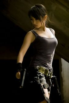 asian Lara Croft.