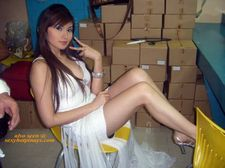 A pretty Pinay flaunts her long legs..